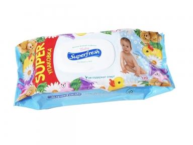 Салфетки влажные Super Fresh, 120 шт